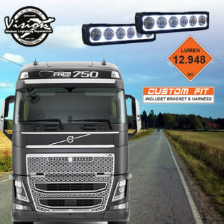 """XPR-H6SGVOKIT VISION X XPR HALO 11-32V 12"""" 120W 5° VOLVO FH4"""