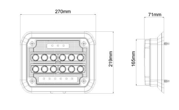 WSL-75M VISION X WSL-SERIES LED-PINTASENNUSVALO 75W 9-32V DC MITTAKUVA